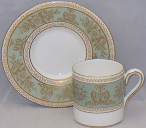 Wedgwood Columbia-Sage Green Rim Bond Shape Demitasse Cup And Saucer Set (Columbia Sage Wedgwood Green)