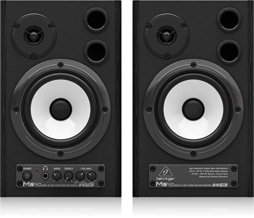 Behringer MS40 24-Bit/192 kHz Digital 40-Watt Stereo Near Field Studio Monitor Speakers ()
