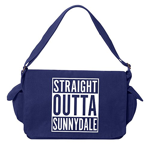 Tenacitee Straight Outta Sunnydale Royal Blue Brushed Canvas Messenger Bag