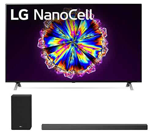 "LG 65NANO90U 65"" 4K Ultra High Definition Nano 90 Series Smart TV with a LG SN9YG Meridian Audio Technology 5.1.2 CH Soundbar with Wireless Subwoofer (2020)"