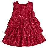Snowdreams Little Girls Red Patchwork Tiered Dresses Star Print Princess Dress Size 4