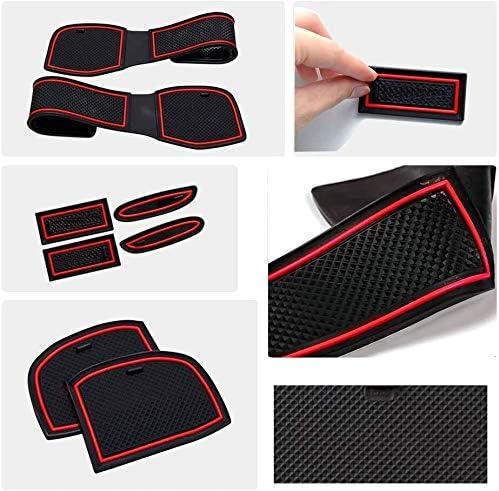 Mmhot-fhd for Clio 4 2013 2014 2015 2016 2017 2018 Porte Fente Pad Tapis antid/érapant Coupe Int/érieur Car Styling Accessoires 10Pcs Set Rouge