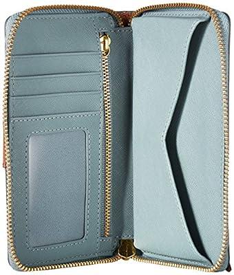 Fossil Emma Rfid Smartphone Wristlet Chevron Blue Wallet