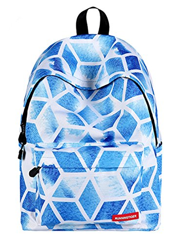 Diamond Backpack Canvas School diamond Hiking Lattice Bag Lattice rYOpqpw5