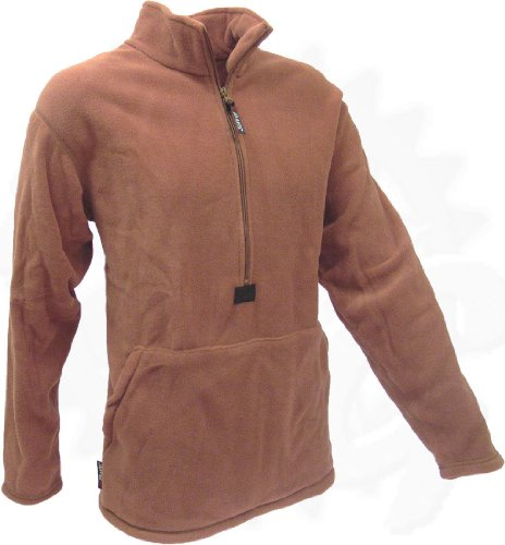 (Polartec Fleece Pullover, Coyote Brown, USMC Issue, Made in USA)