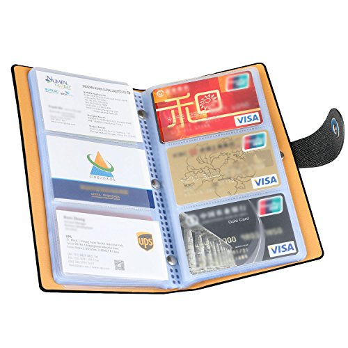 Holder Book Card - Business Card Organizer, iBayam 300 Slots Business Card Holder Cards Organizer for Gift Cards Pokemon Cards ID Card Visting Card Business Cards(Black - 300)
