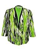 Kasper Women's Plus-Size Printed Framed Jacket, Key Lime Multi, 14W