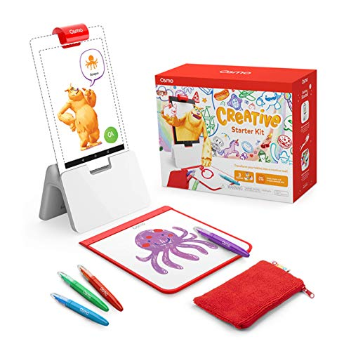 🥇 Osmo – Creative Starter Kit for Fire Tablet – Ages 5-10 – Creative Drawing & Problem Solving/Early Physics – STEM Fire Tablet Base Included
