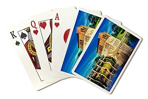 Arbor Barton - Barton Dam, Ann Arbor, Michigan Photography A-90642 (Playing Card Deck - 52 Card Poker Size with Jokers)