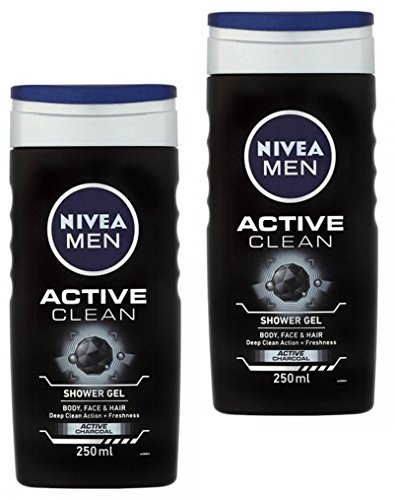 Price comparison product image Nivea Men Active Clean Shower Gel,  250ml (Pack Of 2)