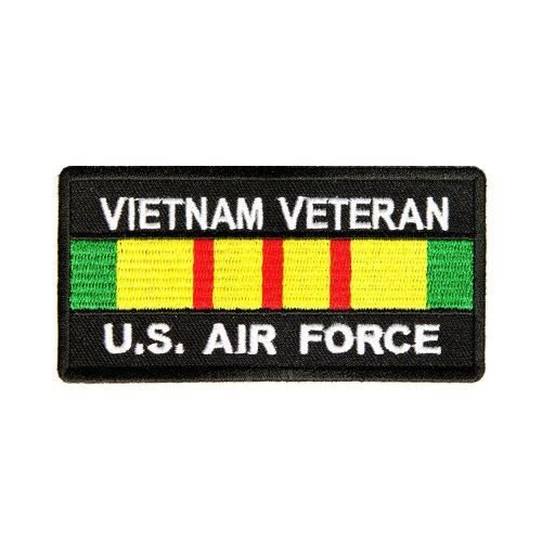 Vietnam Veteran Air Force Patch Rect - By Ivamis Trading - 4x2 inch