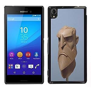 LECELL--Funda protectora / Cubierta / Piel For Sony Xperia M4 Aqua -- Artista 3d azul barba equipo vikingo cgi --