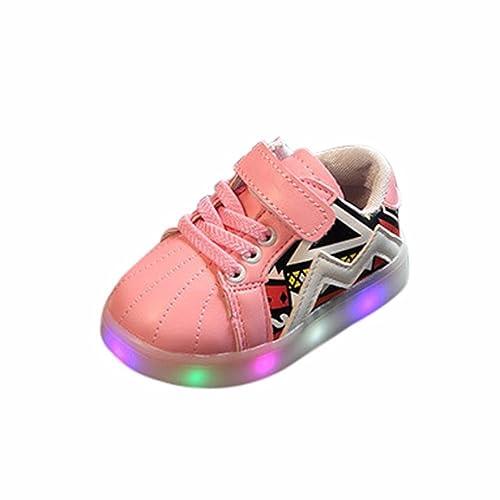 K-youth® Zapatos Unisex Niños LED Luz Luminosas Flash Zapatos Zapatillas de Deporte Zapatos