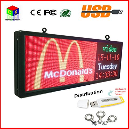 RGB full color LED sign 15''X40''/ support scrolling text...