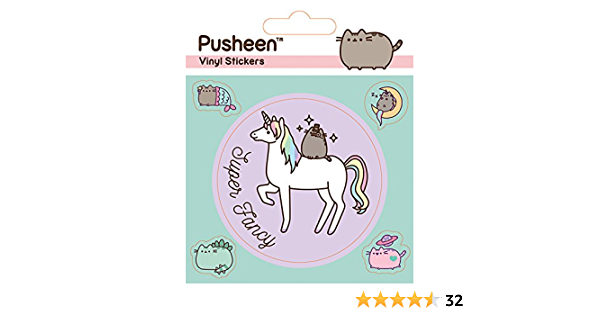 Pusheen Vinyle Autocollants Licorne Official Merchandise Cadeau Stocking Filler