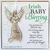 The Grandparent Gift Irish Baby Angel Ornament and Blessing Card for Baby Bapitsm, New Baby Boy or Girl