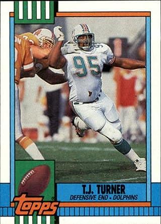 Amazoncom 1990 Topps Football Card 331 Tj Turner Mint