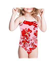 Showudesigns Halter Swimsuit One Piece Baby Girls Bathing Suit Kawaii Pattern
