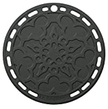 "Le Creuset Silicone 8"" Round French Trivet, Oyster"