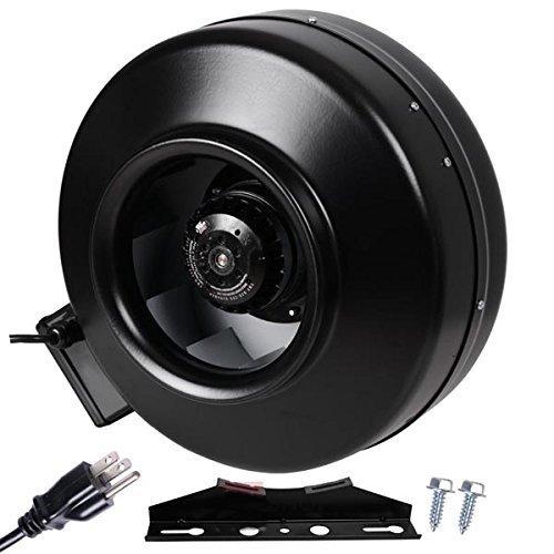 High Heat Inline Fan : Inch cfm inline ventilation duct exhaust fan