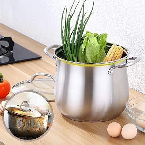 Facibom Pot à soupe double oreille en acier 22 cm 304