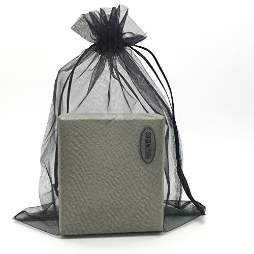 - SUNGULF 100pcs Organza Pouch Bag Drawstring 6