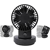 Desk Fan, UCEC Mini USB Table Desk Personal Fan, 80 Degree Rotation Quiet Small Portable Fan for Office Home Outdoor, Powerful Wind, 2 Speed Setting