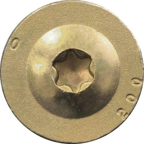 PARCO 116t8x140 Tellerkopfschrauben mit EU Zulassung 50 St/ück gelb-verzinkt 8,0 x 140 mm