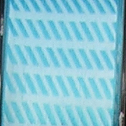 Small Blue Diagonal Stripes Woven Taffeta Wired Craft Ribbon 1.5