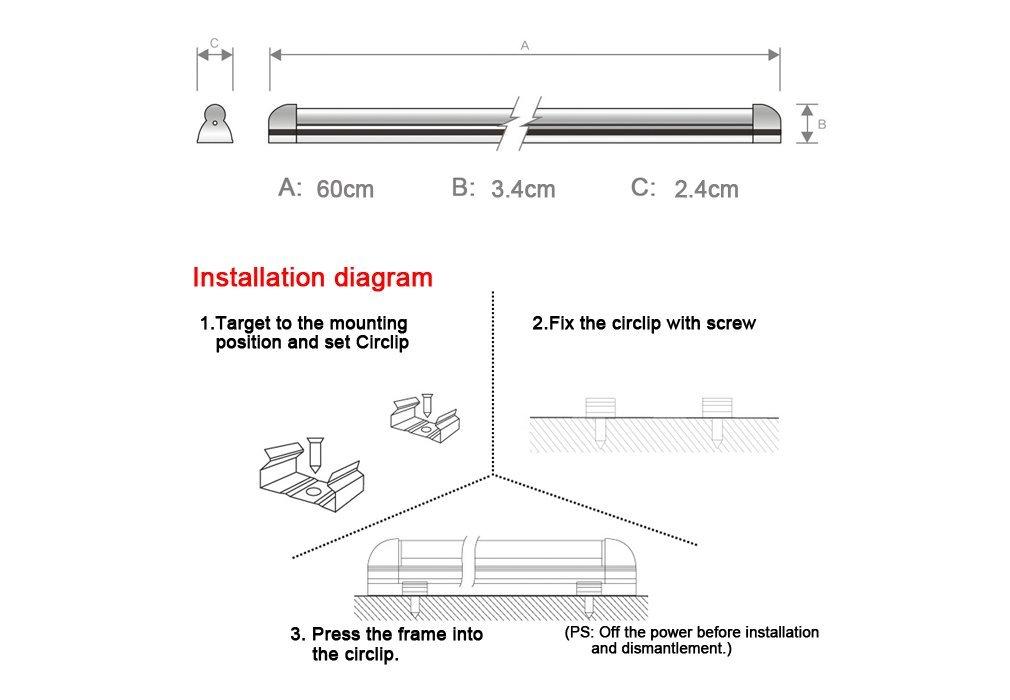 10er Auralum® 60 CM T5 8W 810 Lumen Warmweiß (2800 3200K)  LED Leuchtstofflampe Leuchtstoffröhre,Led Röhre Tube Leuchtmittel  Bürobeleuchtung Mit G5 Fassung ...