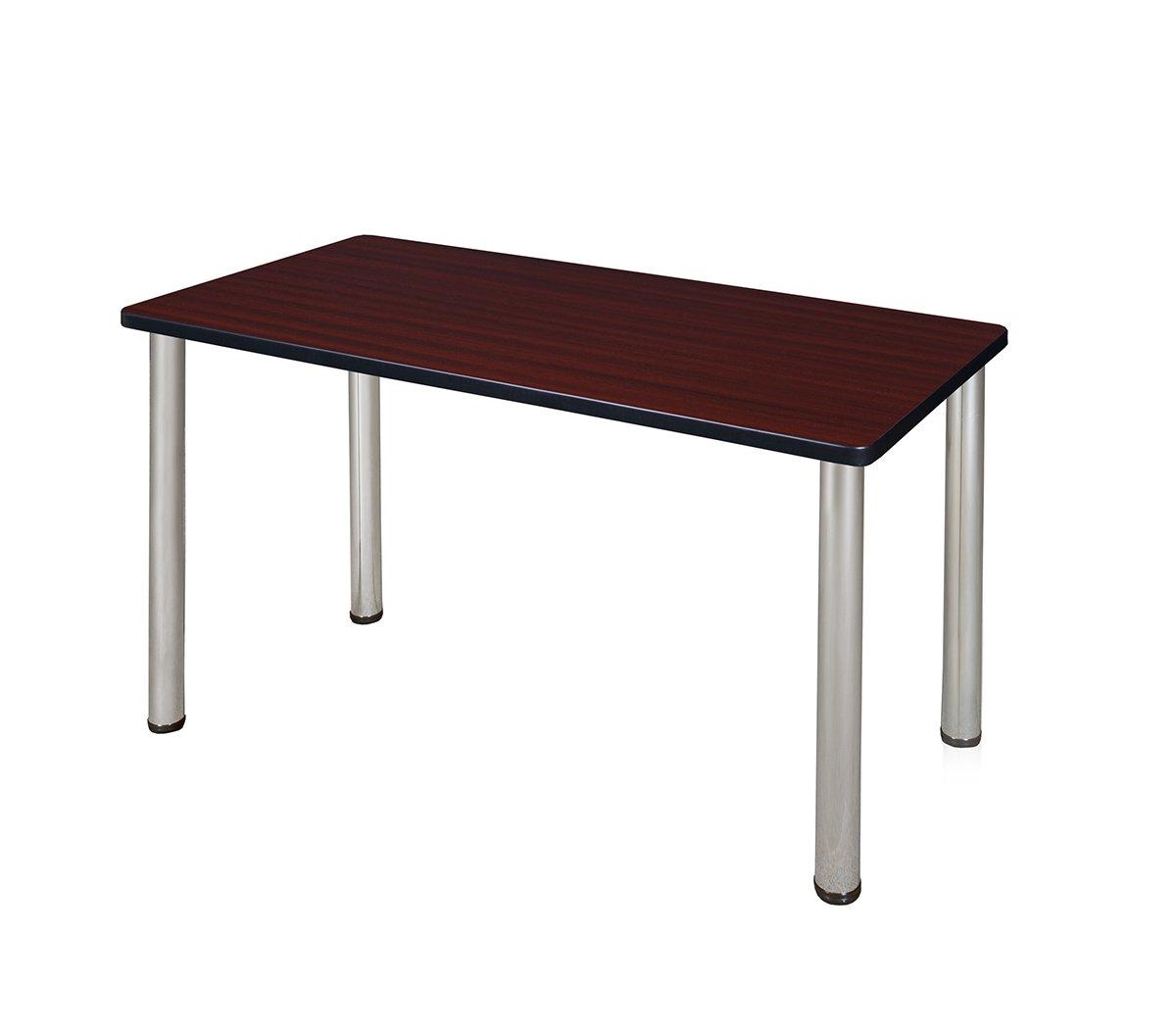 Regency Kee 42 by 24-Inch Training Table, Mahogany/Chrome