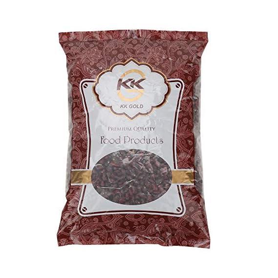 K K GOLD Premium Quality Rajma Jammu & Black Urad Whole Combo, 500 Gram Each