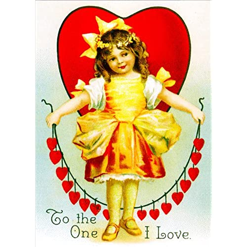 Unique Vintage Valentines Day Cards Chain of Hearts School Package Sales