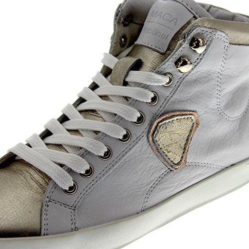 maca kitzbühel Gold Femmes Sneaker White 2210 Silver rrdqO