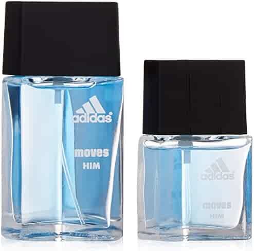 Adidas Moves By Adidas For Men. Gift Set ( Eau De Toilette Spray 1.0 Oz + Eau De Toilette Spray 0.5 Oz )