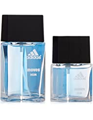 Adidas Moves By Adidas For Men. Gift Set (Eau De Toilette Spray 1.0 Oz + Eau De Toilette Spray 0.5 Oz)