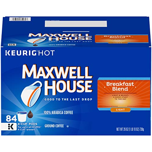 (Maxwell House Breakfast Blend K-Cup Coffee Pods, 84 ct Box)