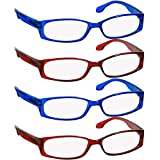 Reading Glasses 2.50 (4 Pack) 2 Red 2 Blue F503