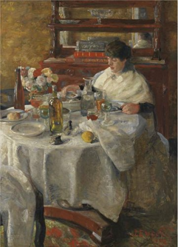 'James Ensor - The Oyster-eater,1882' Oil Painting, 18x25 Inch / 46x63 Cm ,printed On High Quality Polyster Canvas ,this High Resolution Art Decorative Canvas Prints Is Perfectly Suitalbe For Kids Room Gallery Art And Home Gallery Art And Gifts]()