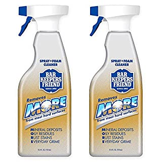 Bar Keepers Friend MORE Dual Action Nozzle Spray and Foam Cleaner | 25.4 Fluid Ounces | 2-Pack(25.4 OZ / 2-Pack)