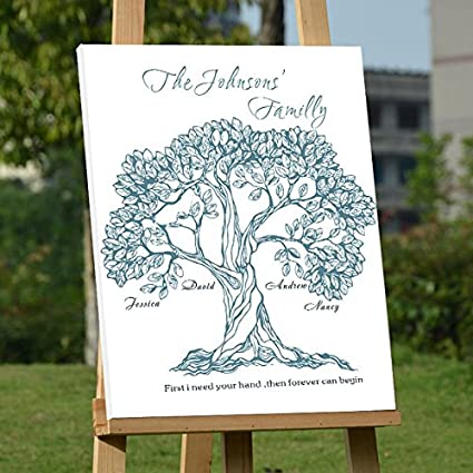 rustic guest book for a wedding canvas life of tree wedding book alternatives custom family name