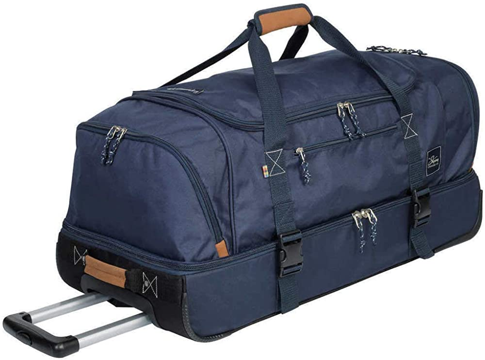 The Skyway Luggage Company Two-Compartment Rolling Duffel