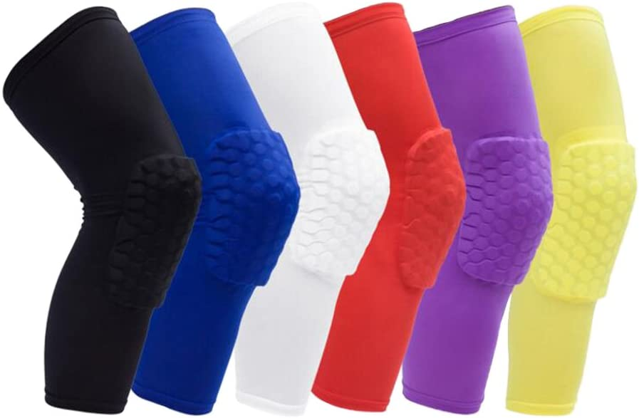 1bests Honeycomb通気性ダストからスポーツ保護ギアfound in : Sporting Goodバレーボールバスケットボール登山サイクリング膝Crashproof膝パッド(1ペア/ 2個 イエロー X-Large