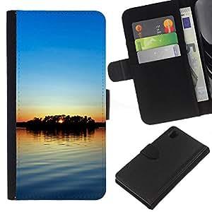 JackGot ( Tramonto Beautiful Nature 56 ) Sony Xperia Z1 L39 la tarjeta de Crédito Slots PU Funda de cuero Monedero caso cubierta de piel