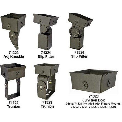 Morris 71323 LED Slim-Line Combo Wallpack/Flood Accessory, 1/2'' Adjustable Knuckle Mount for 22W and 40W, Bronze