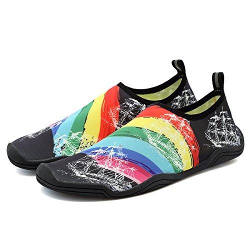 FANTURE Männer und Frauen Multifunktionale Barfuß Schuhe Wasser Schuhe Schwarz03