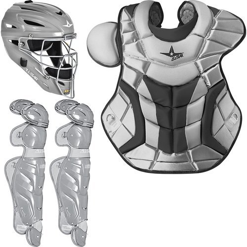 AllStar System 7 Adult Pro Catcher's Set, Silver by All-Star