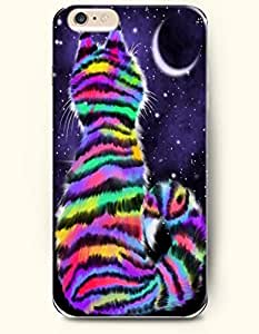 Case For Samsung Note 2 Cover with Design of Colorful Cat Watching The MoRainbow Color Series -OOFIT Authentic