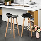 kitchen counter height stools - WOHOMO Kitchen Counter Height Bar Stools 32 Inches Black Set of 2 Tall Barstools for Home Bar Kitchen Counter Decoration