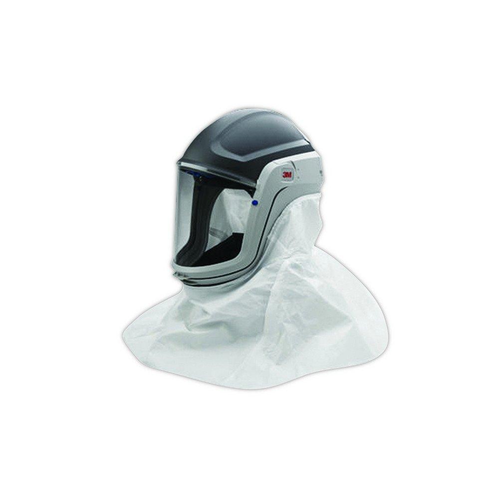 3M 00051131173224  Versaflo Respiratory Helmet Assembly with  Visor and Shroud, Standard, Black/White